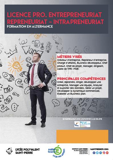 Licence Pro Entrepreneuriat - Repreneuriat - Intrapreneuriat